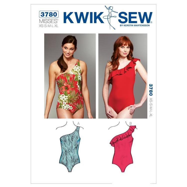 Kwik Sew Pattern K3780 One Shoulder Swimsuits