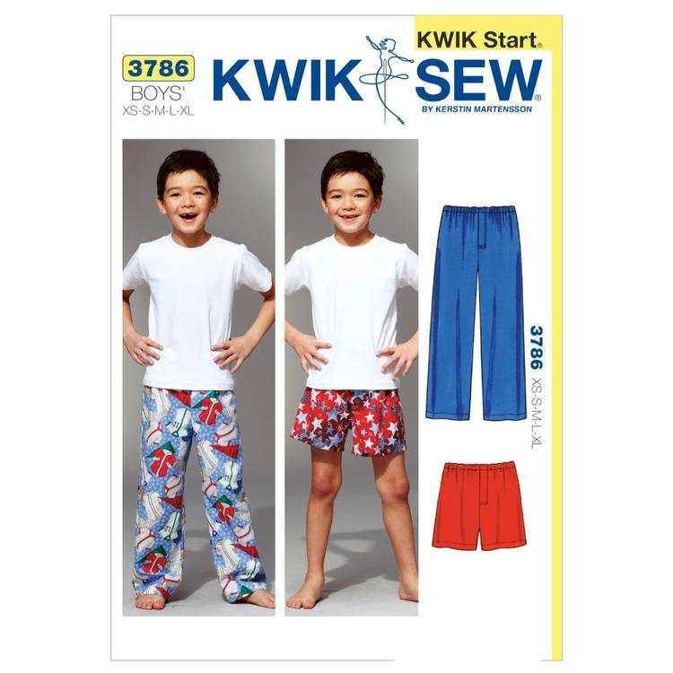 Kwik Sew Pattern K3786 Sleep Pants & Shorts