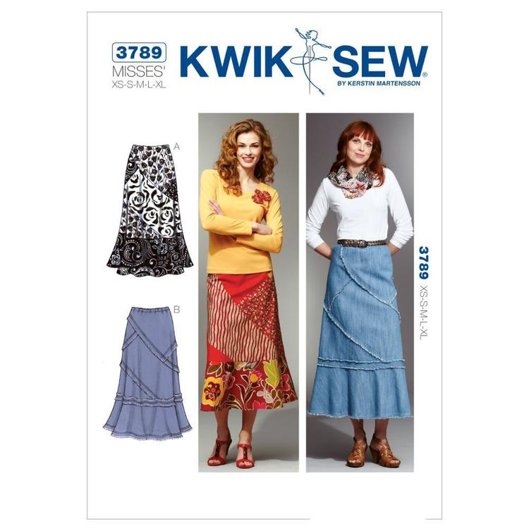 Kwik Sew K3789 Patchy Skirts  X Small - X Large