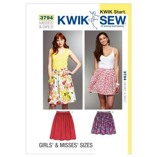Kwik Sew Pattern K3794 Misses' & Girls' Skirts
