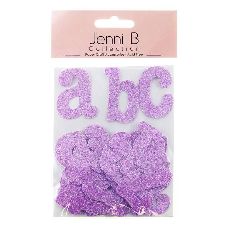 Jenni B Chipboard Glitter Letters