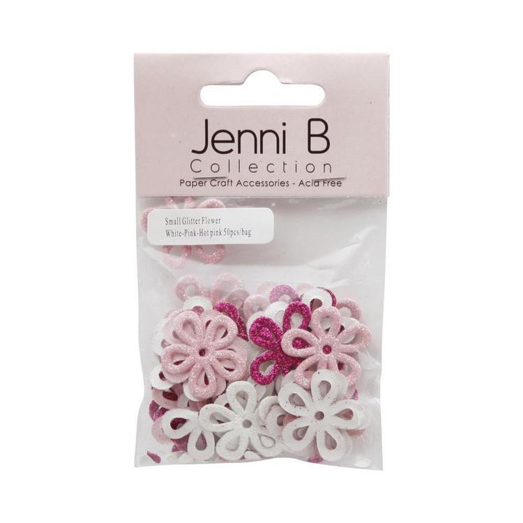 Jenni B Glitter Chipboard Flower