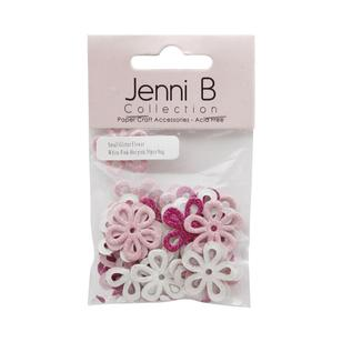 Jenni B Glitter Chipboard Flower