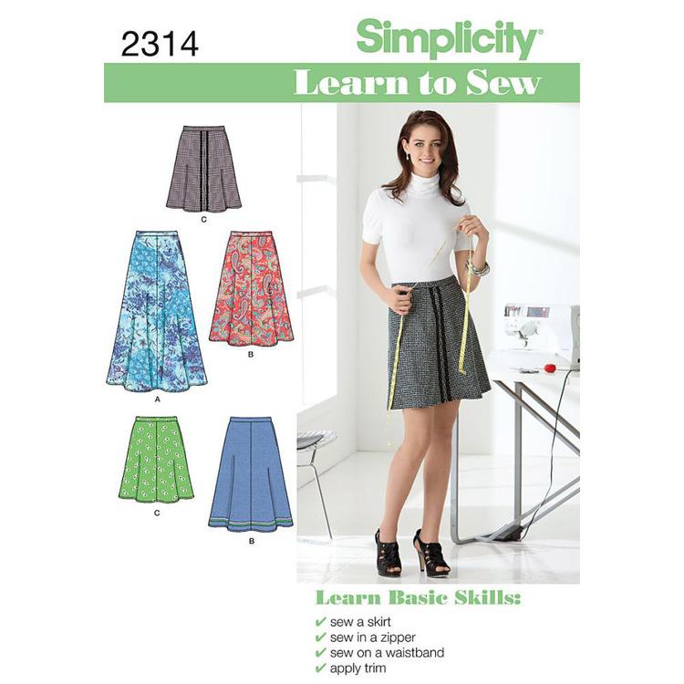 Simplicity Pattern 2314 Women's Skirt