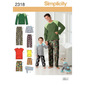 Simplicity 2318 Boy's Sleepwear  Small - X Large