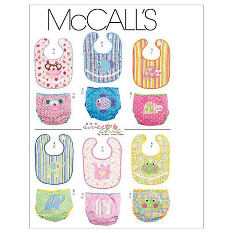McCall's Pattern M6108 Infants' Bibs & Diaper Covers