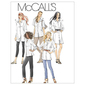 McCall's Pattern M6124 Womens' Petite Shirts In 3 Lengths