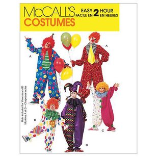McCalls M6142 Kids' Clown Costumes
