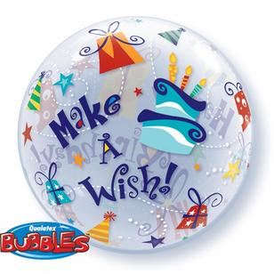 Qualatex Bubbles Birthday Make A Wish Balloon