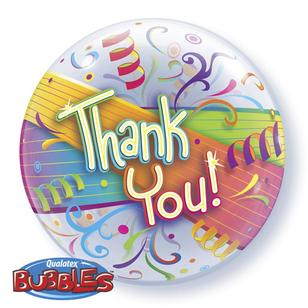 Qualatex Bubbles Thank You Streamers Balloon