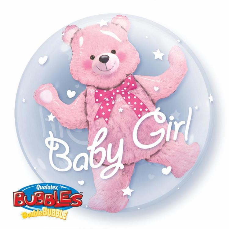 Qualatex Baby Girl Bubbles Balloon