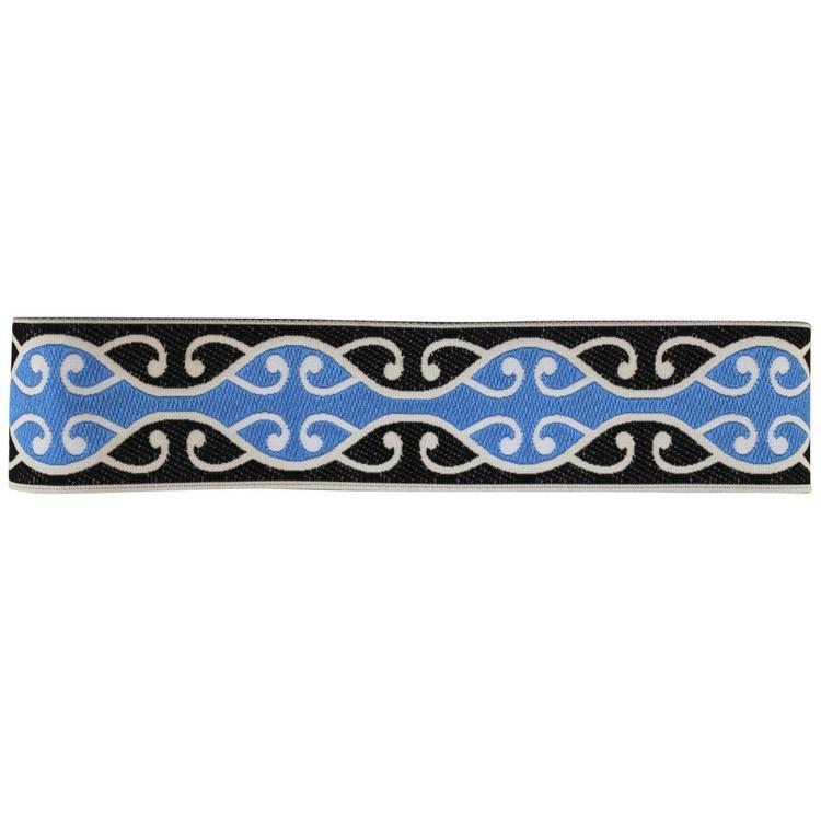 Maori Braid 328B Blue & Black