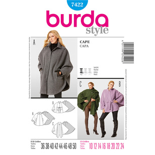 Burda 7422 Women's Coat