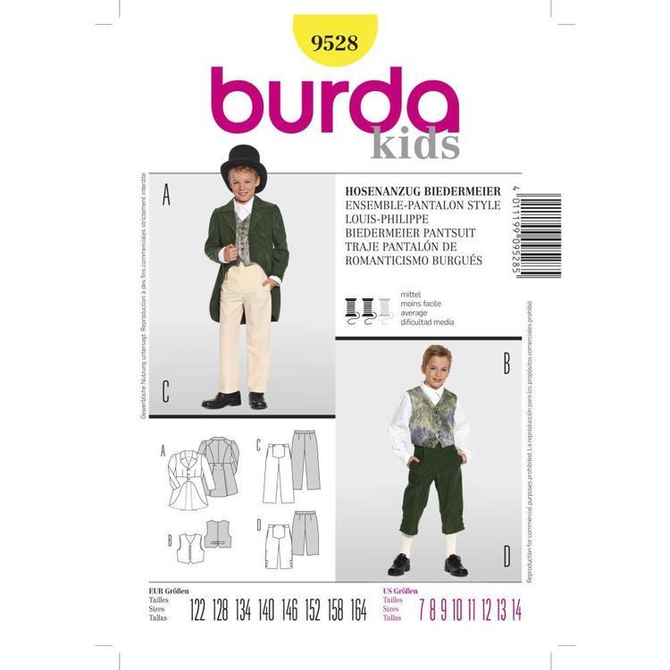 Burda Pattern 9528 Kid's Biedermeier Pantsuit