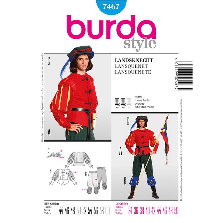 Burda Pattern 7467 Middle Age Guard Costume