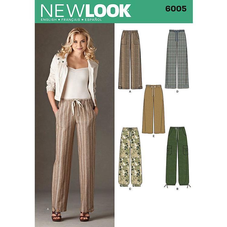 New Look Pattern 6005 Women's Pants