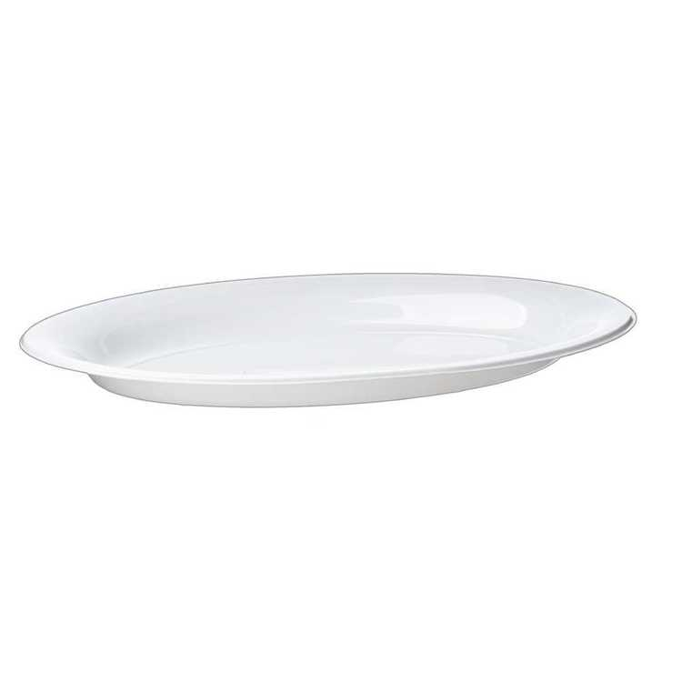 Partyware Plastic Oval Trays 3 Pack White