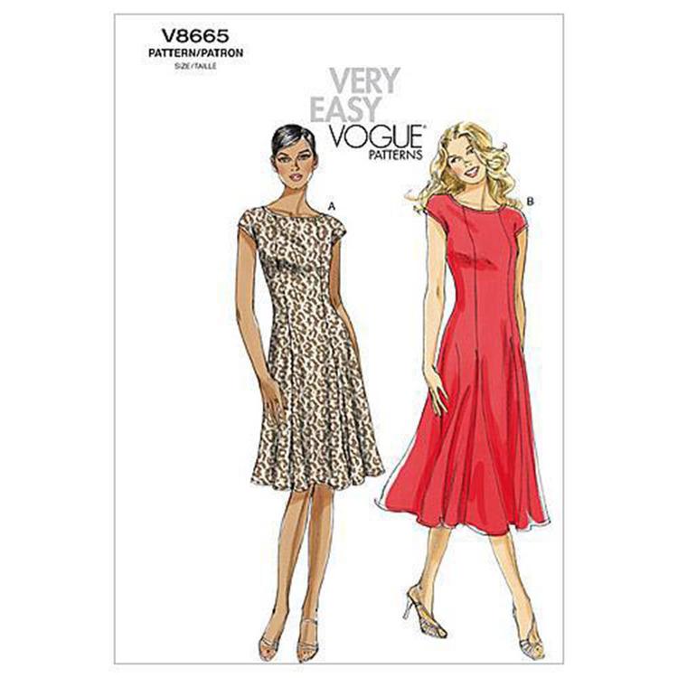 Vogue Pattern V8665 Misses' Petite Dress
