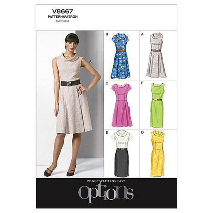 Vogue V8667 Misses' Petite Dress