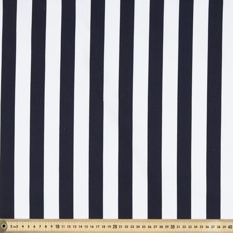 Striped 114 cm Montreaux Drill Fabric Navy