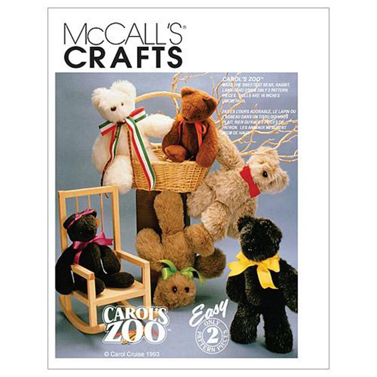 McCall's Pattern M6188 Stuffed Animals