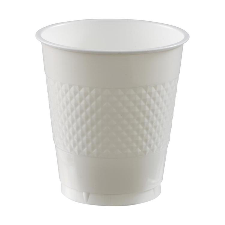 Amscan White Plastic Cups White 335 mL