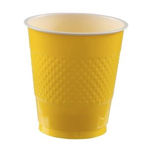Amscan Yellow Plastic Cups - Everyday Bargain