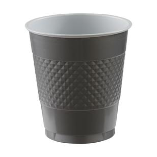 Amscan Silver Plastic Cups