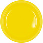 Amscan Yellow Plastic Round Plates 20 Pack Yellow