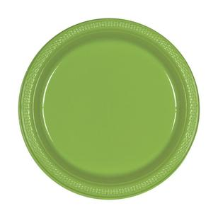 Amscan Kiwi Plastic Round Plates 20 Pack