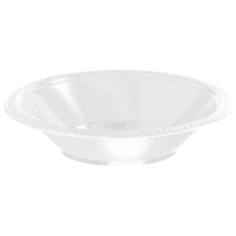 Amscan White Plastic Bowls