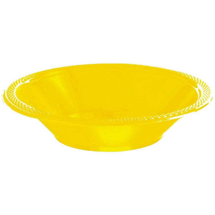 Amscan Yellow Plastic Bowls Yellow 17.7 cm