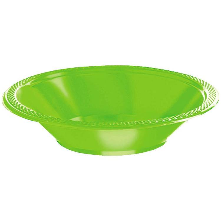 Amscan Kiwi Plastic Bowls