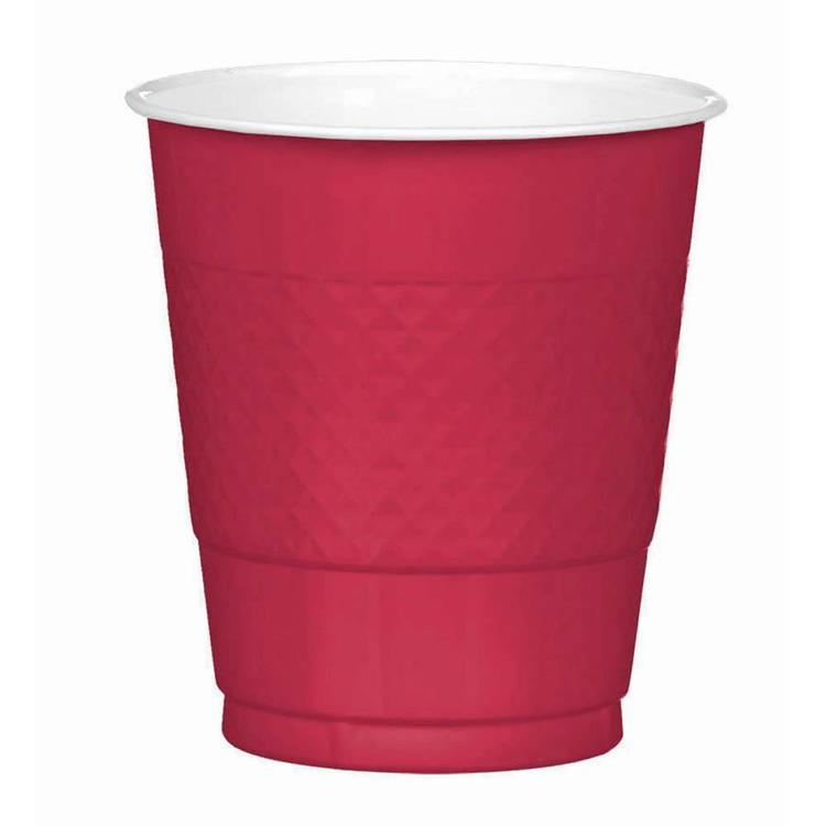 Amscan Red Plastic Cups