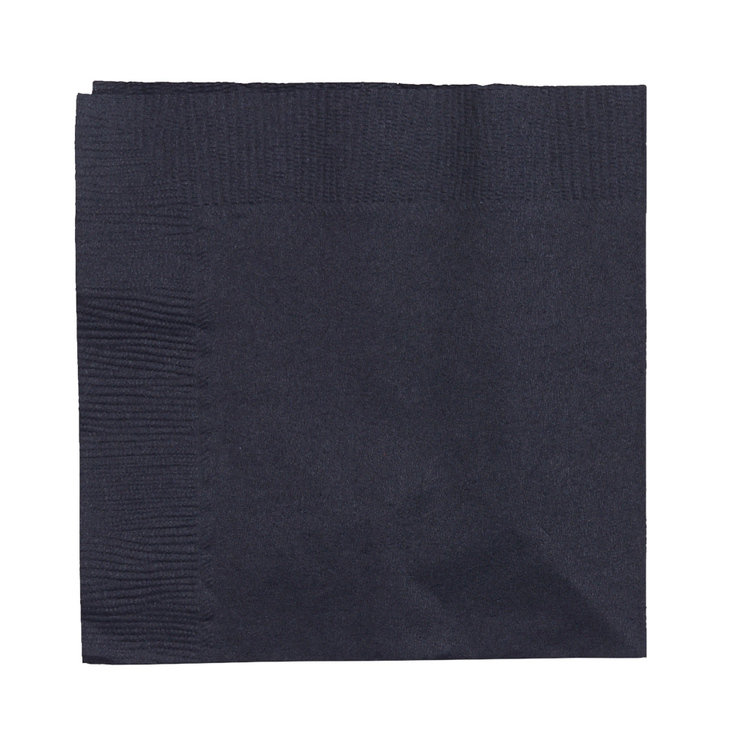 Amscan 2 Ply Black Beverage Napkins Black