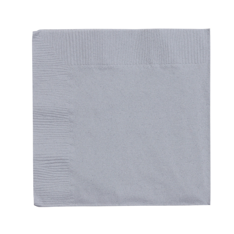 Amscan 2 Ply Silver Beverage Napkins Silver