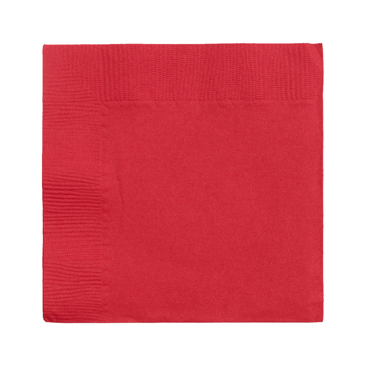 Amscan 2 Ply Red Beverage Napkins Red