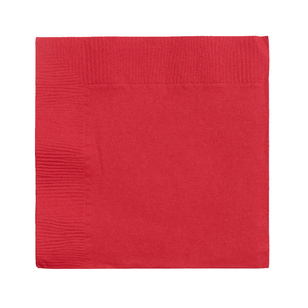 Amscan 2 Ply Red Beverage Napkins - Everyday Bargain