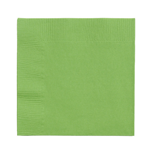 Amscan 2 Ply Kiwi Beverage Napkins - Everyday Bargain