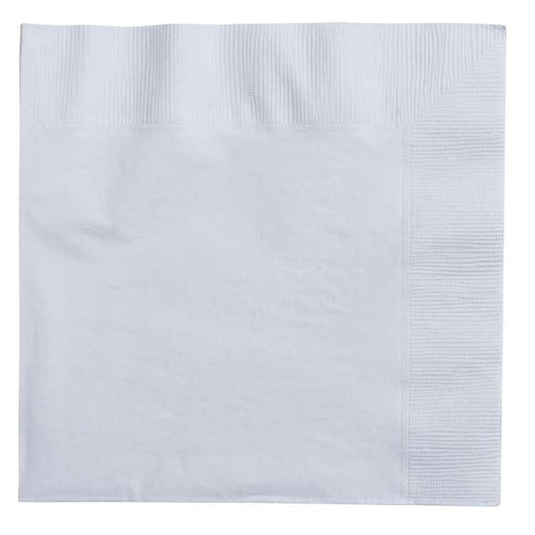 Amscan 2 Ply White Lunch Napkins
