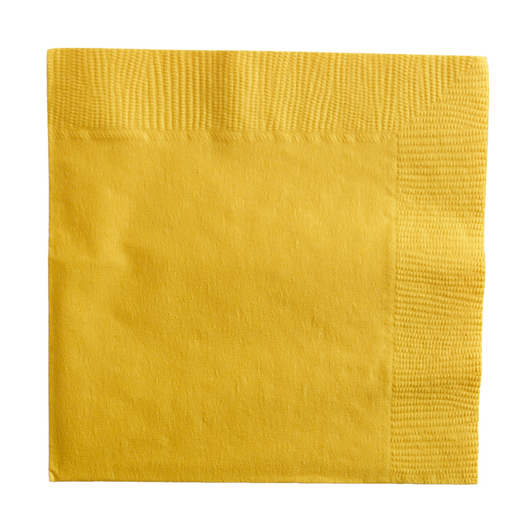 Amscan 2 Ply Yellow Lunch Napkins Yellow