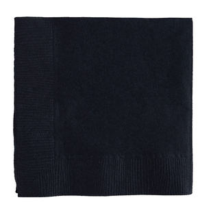Amscan 2 Ply Black Lunch Napkins