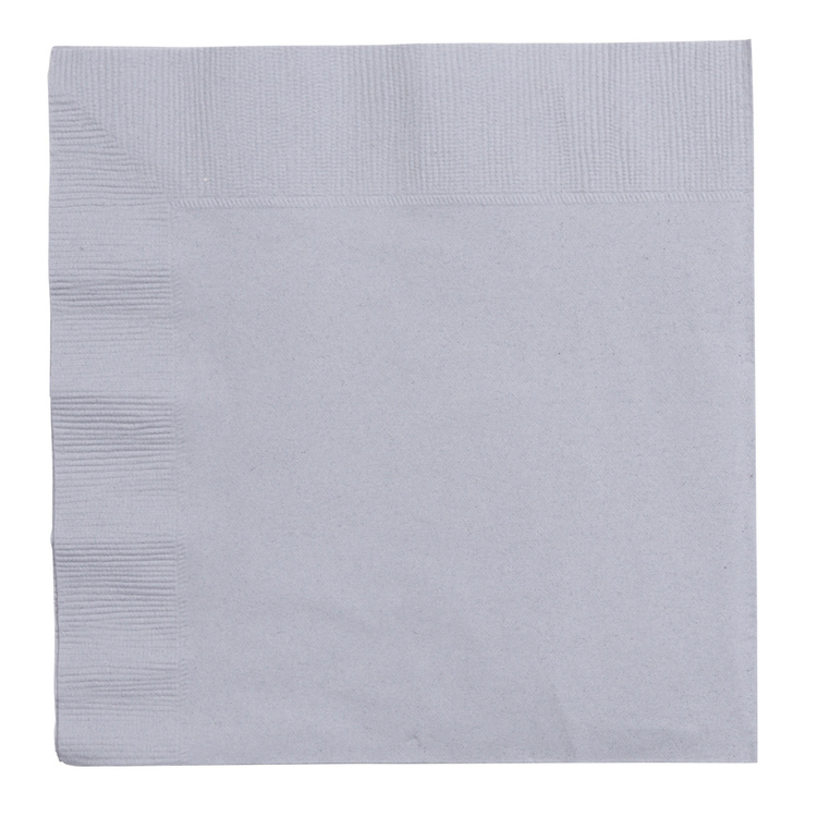 Amscan 2 Ply Silver Lunch Napkins Silver
