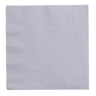Amscan 2 Ply Silver Lunch Napkins - Everyday Bargain