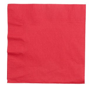 Amscan 2 Ply Red Lunch Napkins - Everyday Bargain
