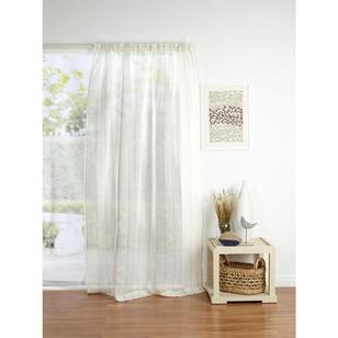 Filigree Tyrol Stripe Pencil Pleat Curtain