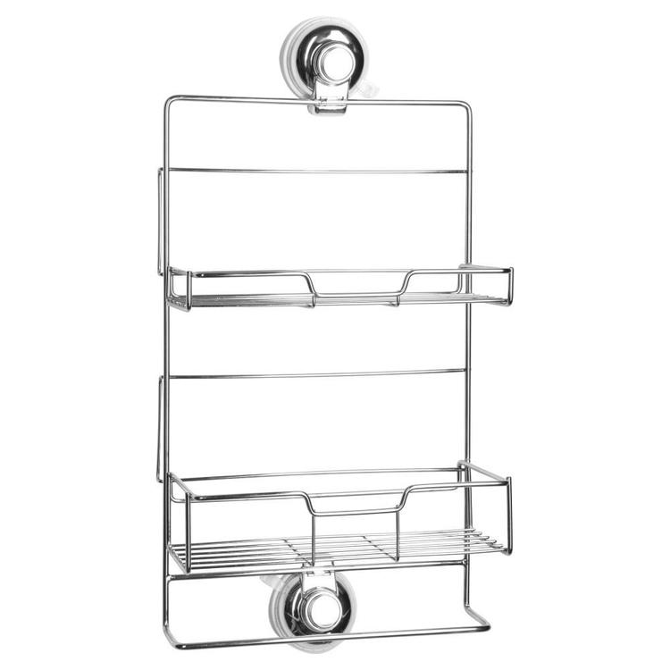 Naleon Classic Super Suction Shower Caddy Chrome