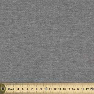 Plain Platinum Ribbing 120 cm Fabric