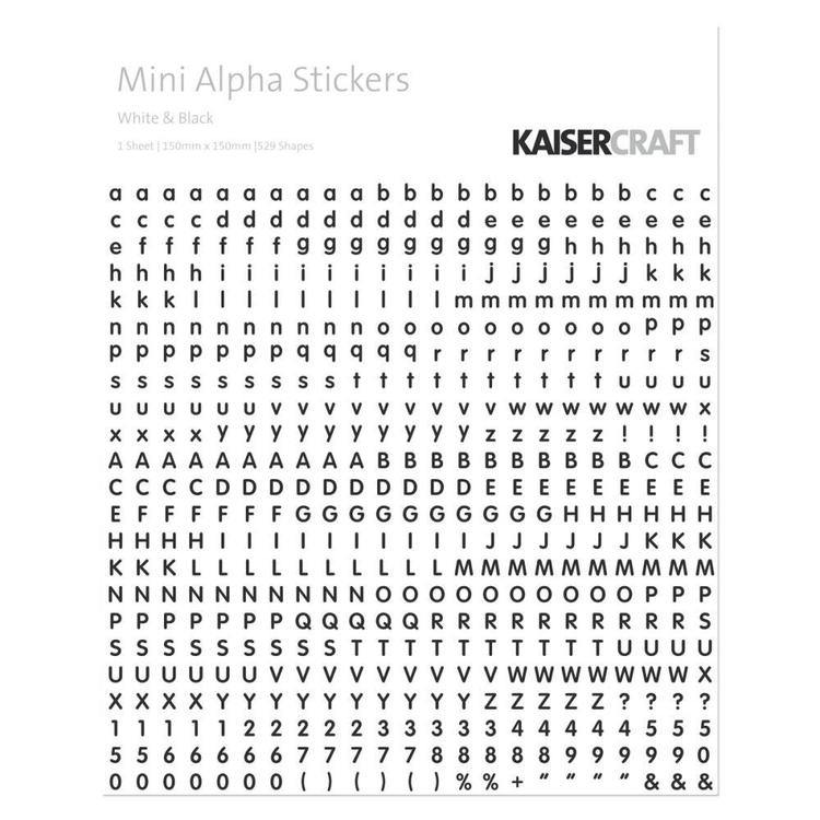 Kaisercraft Mini Alpha Stickers