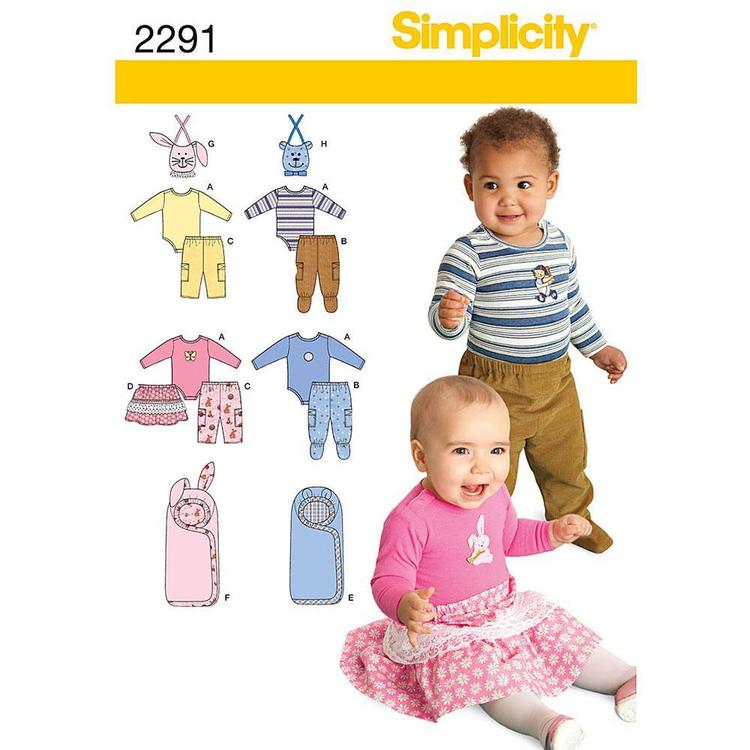 Simplicity Pattern 2291 Baby Coordinates  XX Small - Large